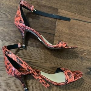 "Michael Kors COLLECTION ""Suri"" Snakeskin Heels"